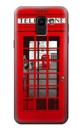 Printed Classic British Red Telephone Box Samsung Galaxy J6 Case