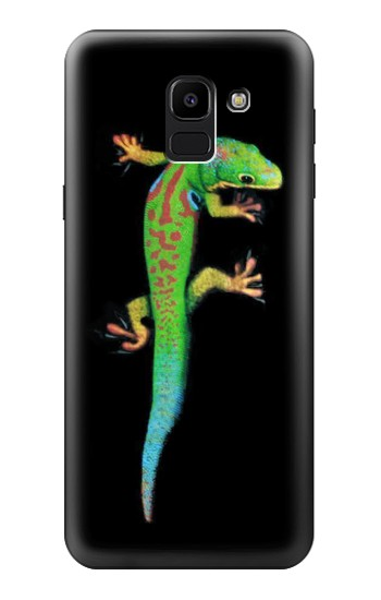 Printed Green Madagascan Gecko Samsung Galaxy J6 Case