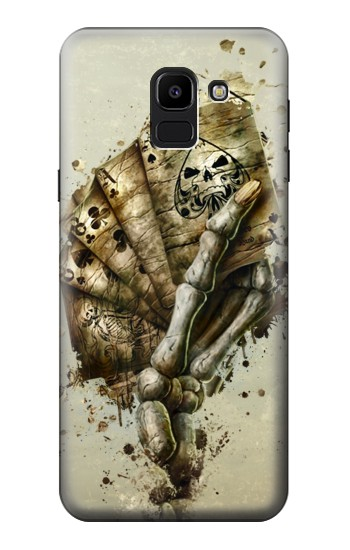 Printed Skull Card Poker Samsung Galaxy J6 Case