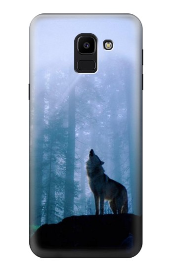 Printed Wolf Howling in Forest Samsung Galaxy J6 Case