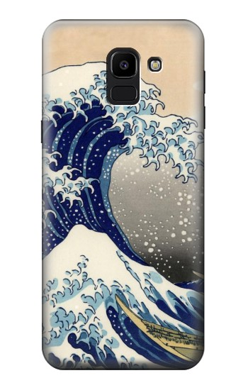 Printed Katsushika Hokusai The Great Wave off Kanagawa Samsung Galaxy J6 Case