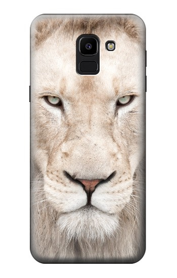 Printed White Lion Face Samsung Galaxy J6 Case