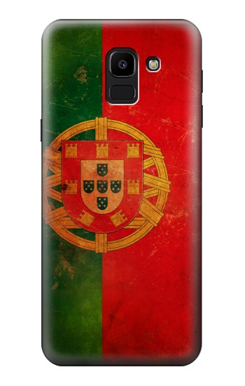 Printed Vintage Portugal Flag Samsung Galaxy J6 Case
