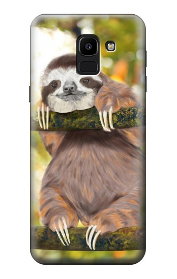 Printed Cute Baby Sloth Paint Samsung Galaxy J6 Case