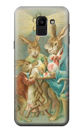 Printed Easter Rabbit Family Samsung Galaxy J6 Case
