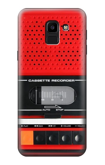 Printed Red Cassette Recorder Graphic Samsung Galaxy J6 Case