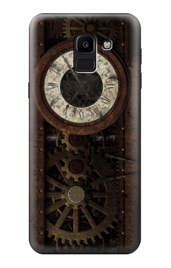 Printed Steampunk Clock Gears Samsung Galaxy J6 Case
