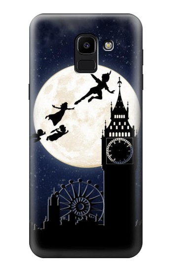 Printed Peter Pan Fly Fullmoon Night Samsung Galaxy J6 Case