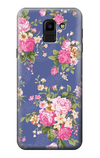 Printed Vintage Flower Pattern Samsung Galaxy J6 Case