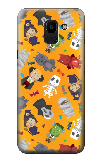 Printed Cute Halloween Cartoon Pattern Samsung Galaxy J6 Case