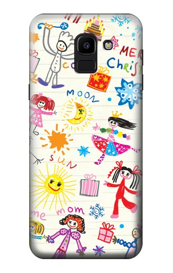 Printed Kids Drawing Samsung Galaxy J6 Case
