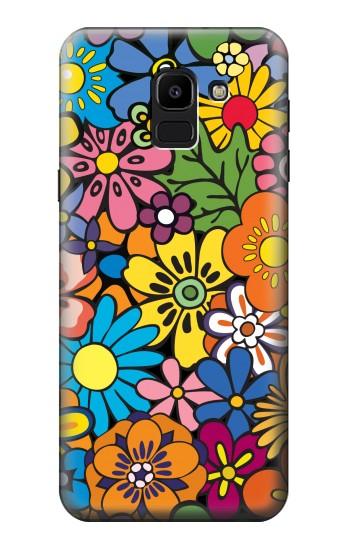 Printed Colorful Flowers Pattern Samsung Galaxy J6 Case