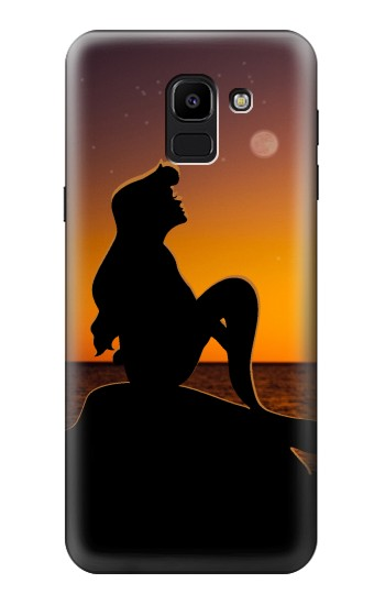 Printed Mermaid Sunset Samsung Galaxy J6 Case