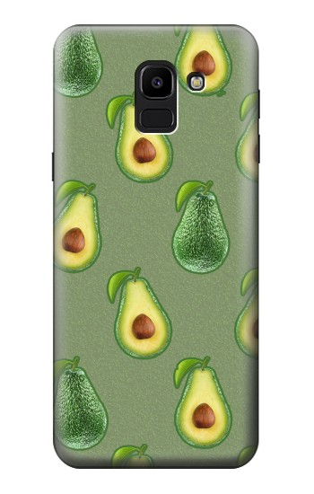 Printed Avocado Fruit Pattern Samsung Galaxy J6 Case
