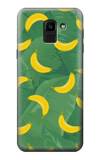 Printed Banana Fruit Pattern Samsung Galaxy J6 Case