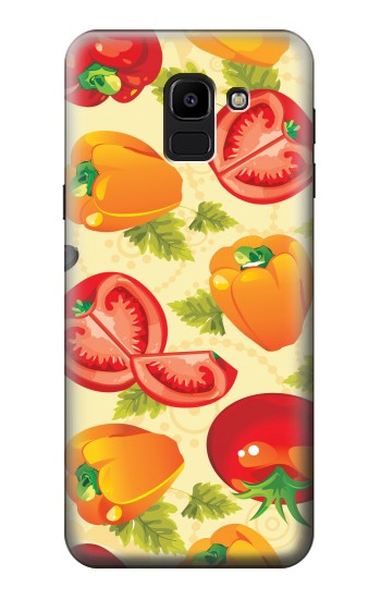Printed Seamless Food Vegetable Samsung Galaxy J6 Case