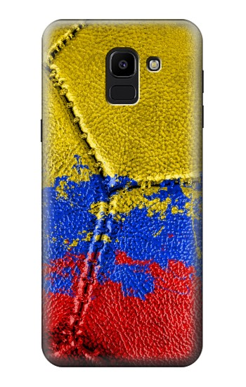 Printed Colombia Flag Vintage Football 2018 Samsung Galaxy J6 Case