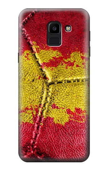 Printed Spain Flag Vintage Football 2018 Samsung Galaxy J6 Case