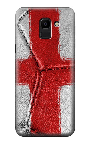 Printed England Flag Vintage Football 2018 Samsung Galaxy J6 Case