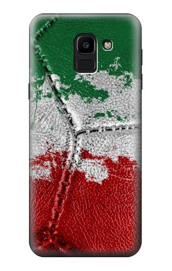Printed Italy Flag Vintage Football 2018 Samsung Galaxy J6 Case