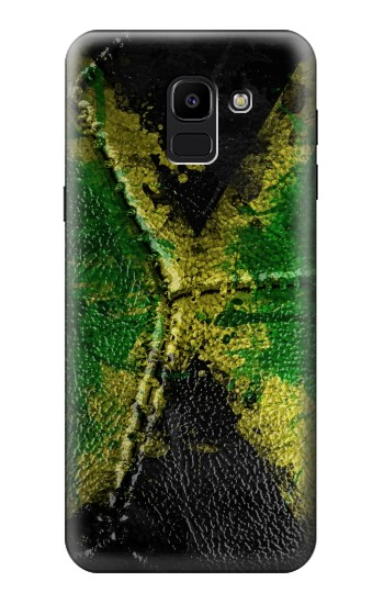 Printed Jamaica Flag Vintage Football 2018 Samsung Galaxy J6 Case