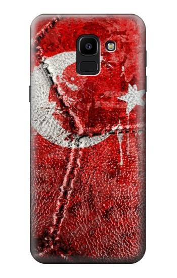Printed Turkey Flag Vintage Football 2018 Samsung Galaxy J6 Case
