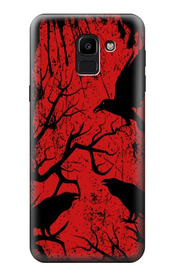 Printed Crow Black Tree Samsung Galaxy J6 Case