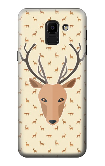 Printed Deer Pattern Samsung Galaxy J6 Case
