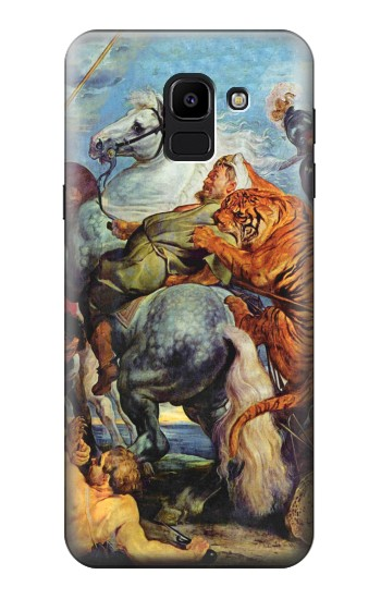 Printed Peter Paul Rubens Tiger und Lowenjagd Samsung Galaxy J6 Case