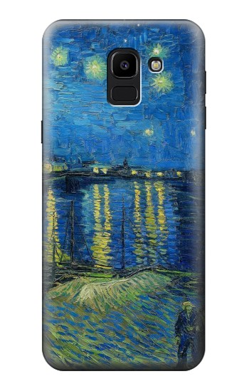 Printed Van Gogh Starry Night Over Rhone Samsung Galaxy J6 Case