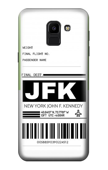 Printed Airline Travel Luggage Label Samsung Galaxy J6 Case