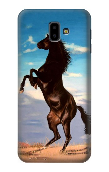 Printed Wild Black Horse Samsung Galaxy J6 Plus (2018) Case