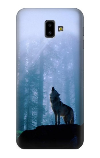 Printed Wolf Howling in Forest Samsung Galaxy J6 Plus (2018) Case