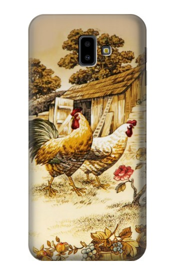 Printed French Country Chicken Samsung Galaxy J6 Plus (2018) Case