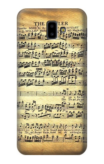 Printed The Fowler Mozart Music Sheet Samsung Galaxy J6 Plus (2018) Case