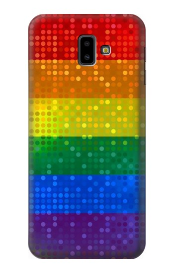 Printed Rainbow Gay LGBT Pride Flag Samsung Galaxy J6 Plus (2018) Case