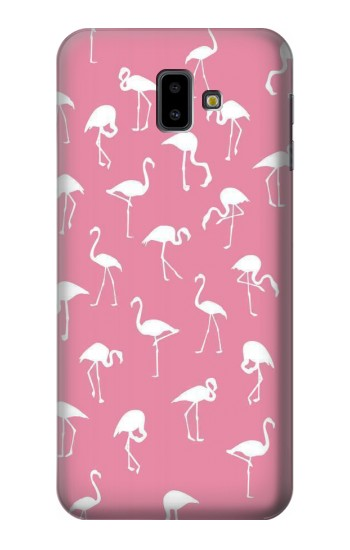 Printed Pink Flamingo Pattern Samsung Galaxy J6 Plus (2018) Case