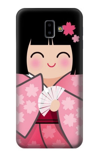 Printed Japan Lucky Doll Kimono Sakura Samsung Galaxy J6 Plus (2018) Case