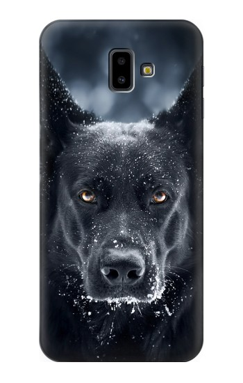 Printed German Shepherd Black Dog Samsung Galaxy J6 Plus (2018) Case