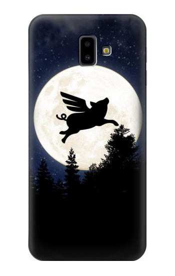 Printed Flying Pig Full Moon Night Samsung Galaxy J6 Plus (2018) Case