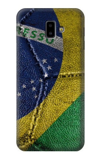 Printed Brazil Flag Vintage Football 2018 Samsung Galaxy J6 Plus (2018) Case