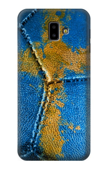 Printed Sweden Flag Vintage Football 2018 Samsung Galaxy J6 Plus (2018) Case