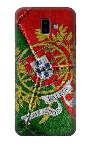 Printed Portugal Flag Vintage Football 2018 Samsung Galaxy J6 Plus (2018) Case