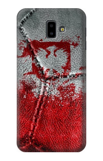 Printed Poland Flag Vintage Football 2018 Samsung Galaxy J6 Plus (2018) Case