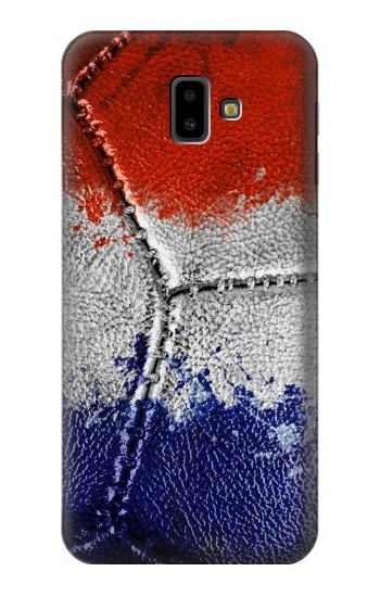 Printed France Flag Vintage Football 2018 Samsung Galaxy J6 Plus (2018) Case
