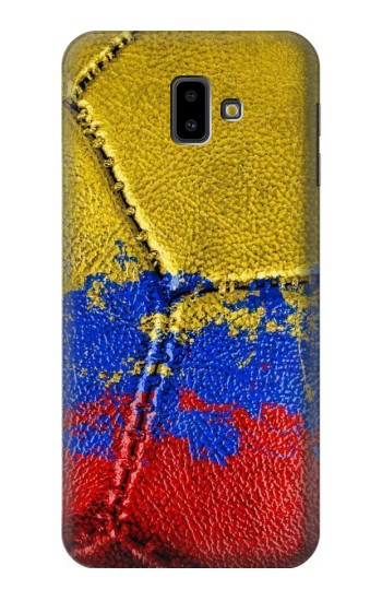 Printed Colombia Flag Vintage Football 2018 Samsung Galaxy J6 Plus (2018) Case