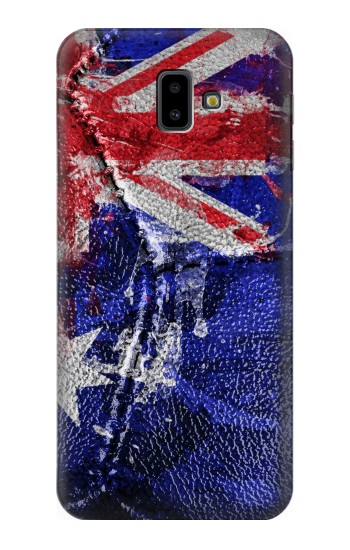 Printed Australia Flag Vintage Football 2018 Samsung Galaxy J6 Plus (2018) Case