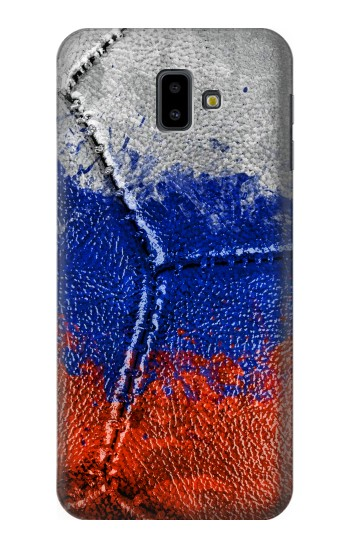 Printed Russia Flag Vintage Football 2018 Samsung Galaxy J6 Plus (2018) Case