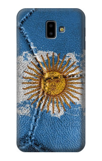 Printed Argentina Flag Vintage Football 2018 Samsung Galaxy J6 Plus (2018) Case