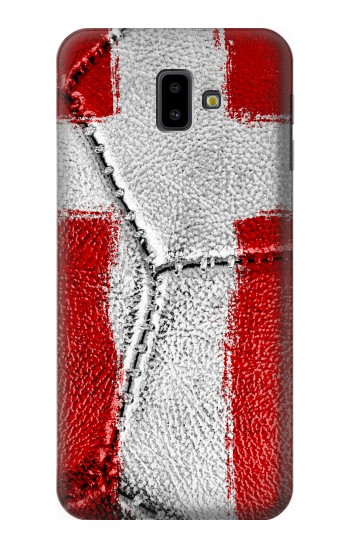 Printed Denmark Flag Vintage Football 2018 Samsung Galaxy J6 Plus (2018) Case